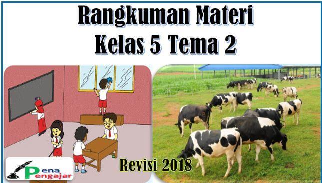 rangkuman materi tema 2 kelas 5 sd kurikulum 2013 revisi 2018