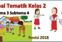soal tematik kelas 2 tema 3 subtema 4 revisi 2017