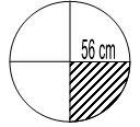 luas arsiran lingkaran r = 56