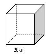 gambar volume kubus rusuk 20 cm