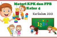 materi kpk dan fpb kelas 4