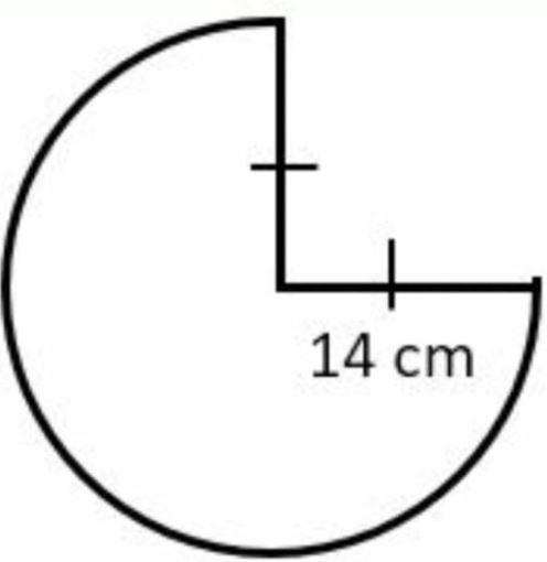 gambar tiga perempat lingkaran