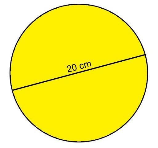 lingkaran dengan diameter 20 cm adalah