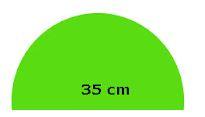 luas setengah lingkaran diameter 35 cm